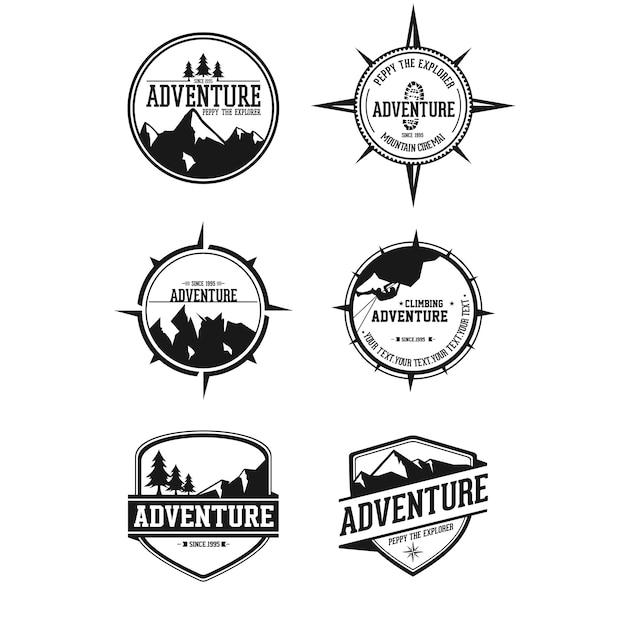 Adventur badges Premium Vector