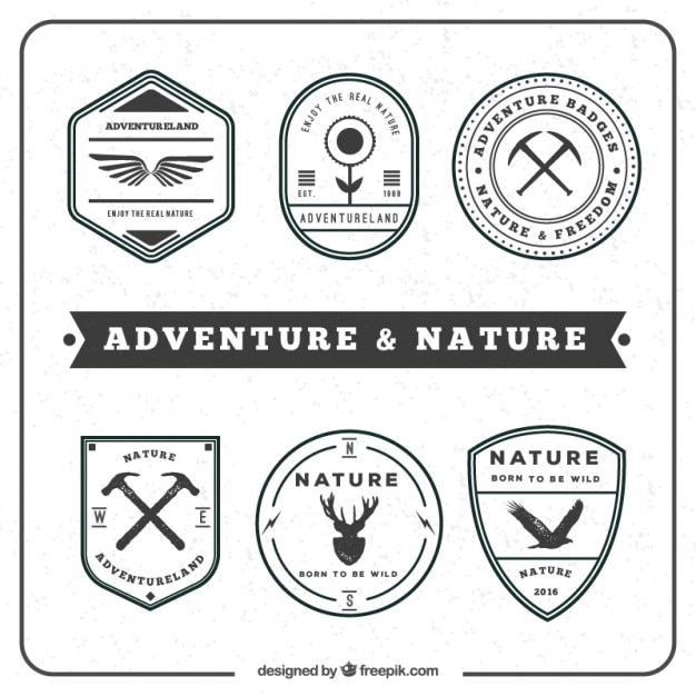Adventure and nature badge in vintage\ style