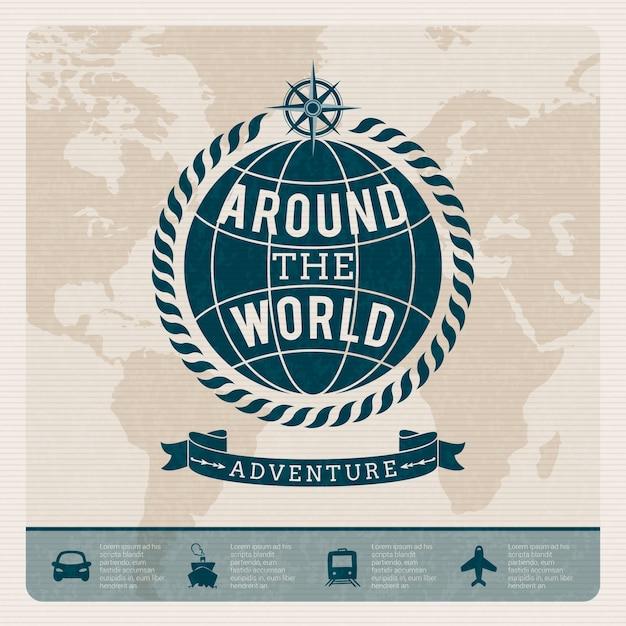 Adventure around the world template