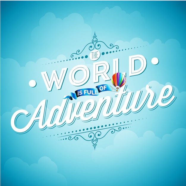 Adventure background design