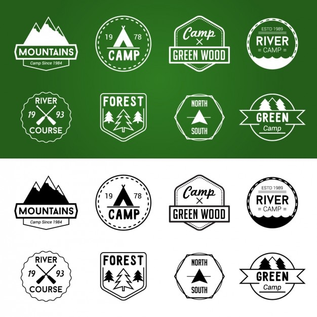 Adventure badges set in diferent colors