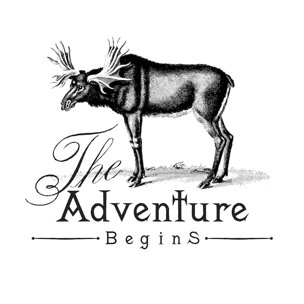 The adventure begins logo design vector Free Vector
