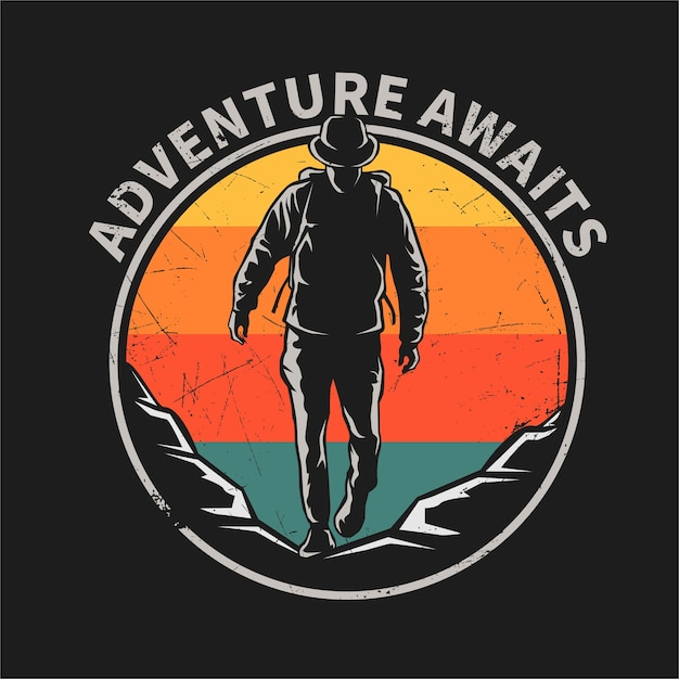 Adventure flat  illustration Premium Vector