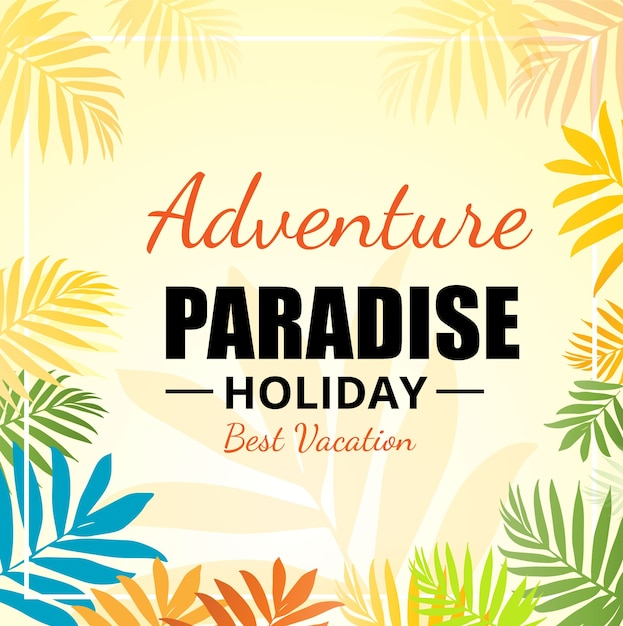 Adventure holiday background