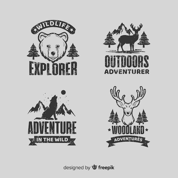 Коллекция логотипов приключений Premium векторы