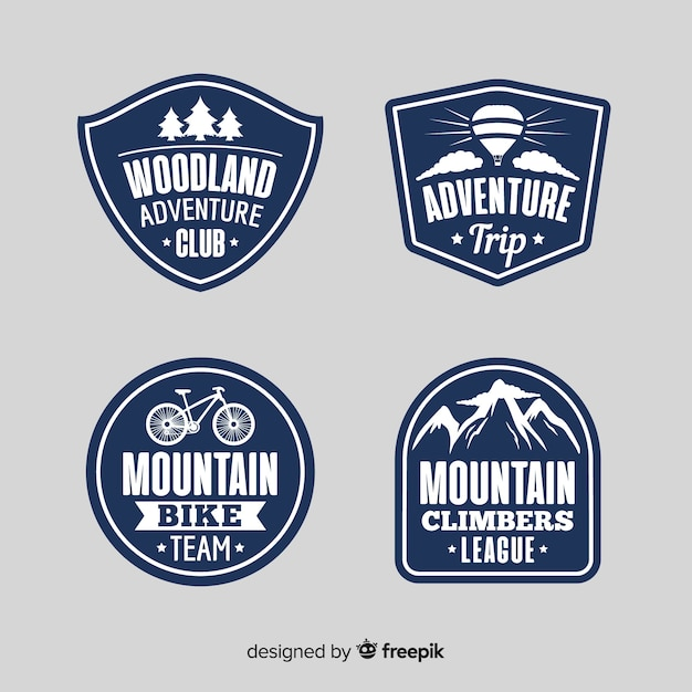 Adventure logo collection Free Vector
