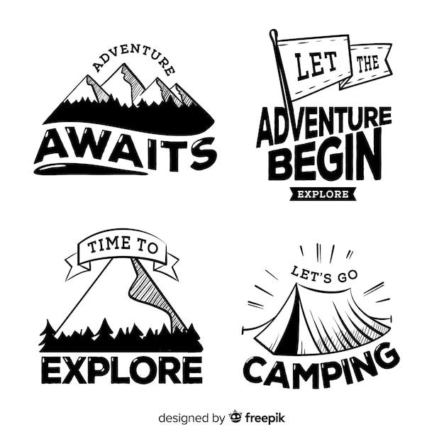 Adventure logo collection Free Vector