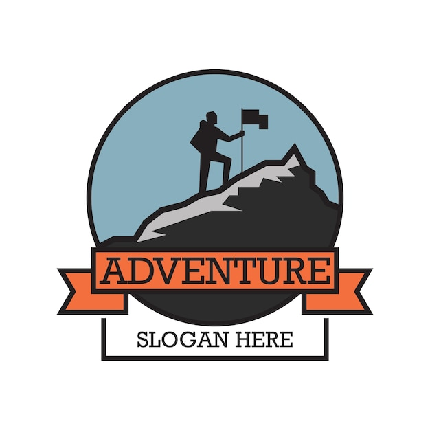 Adventure logo with text space for your slogan Premium Vector