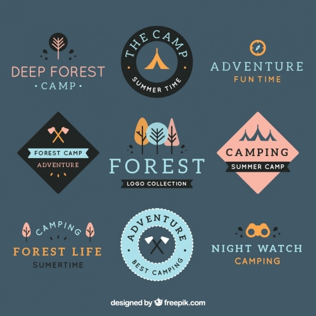 Adventure logos collection