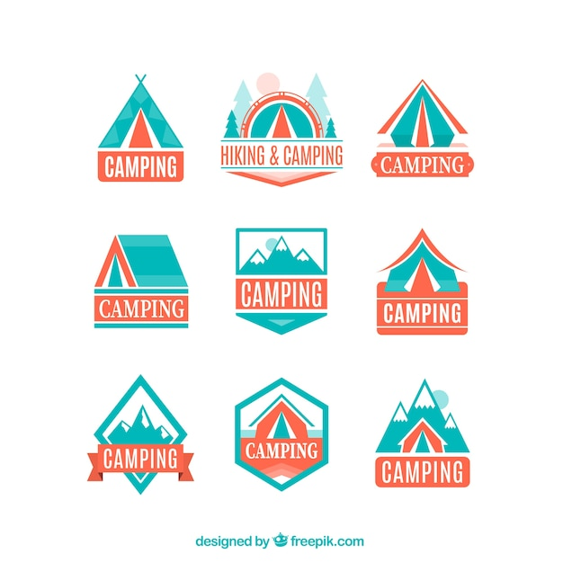 Adventure logos in light blue and orange\ colors