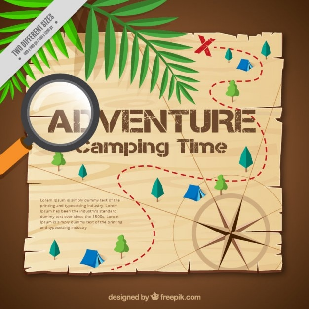 Adventure map  Free Vector