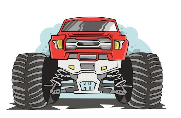Adventure off road monster truck illustration Premium Vector