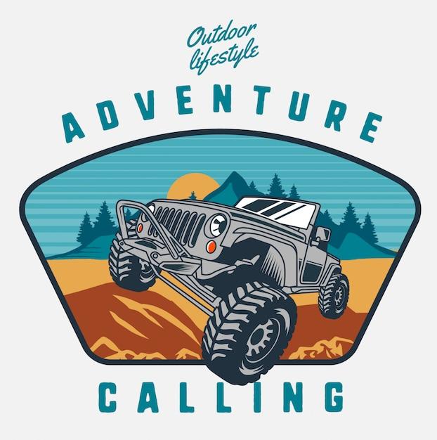 Adventure offroad Premium Vector