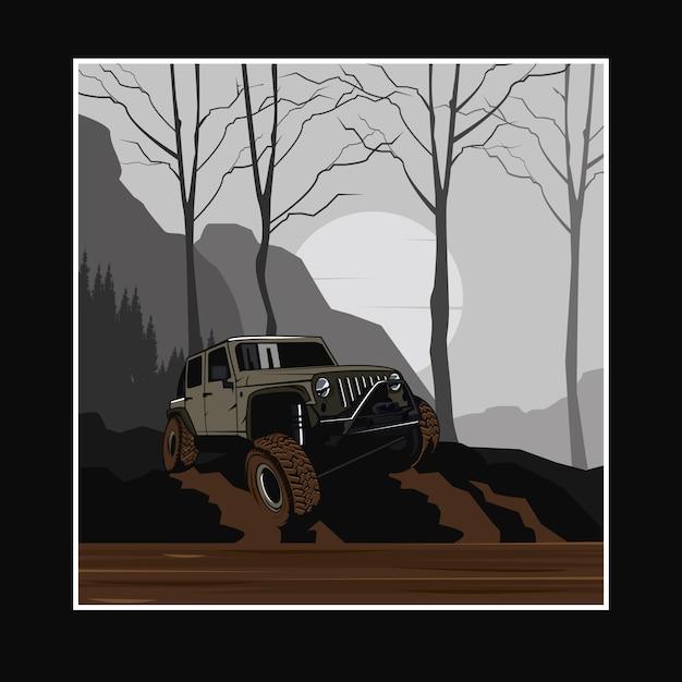 Adventure poster Premium Vector