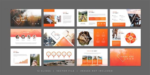 Шаблон слайдов презентации приключений Premium векторы