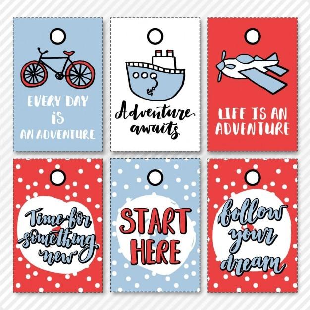 Adventure stickers