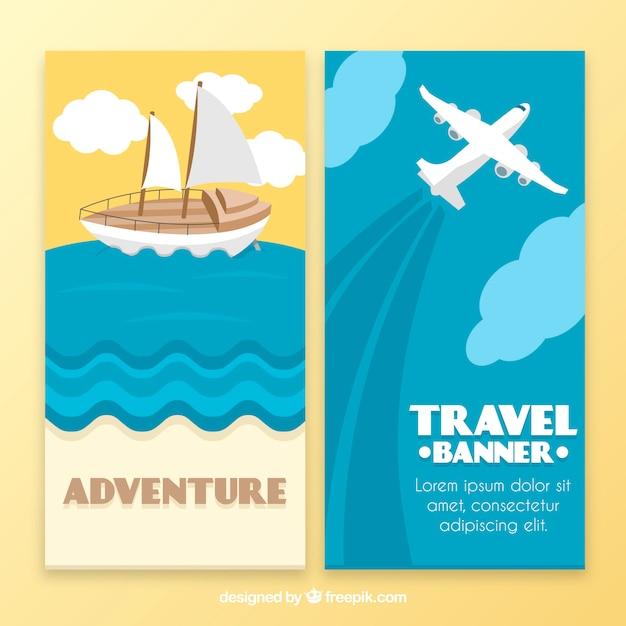 Adventure travel banner