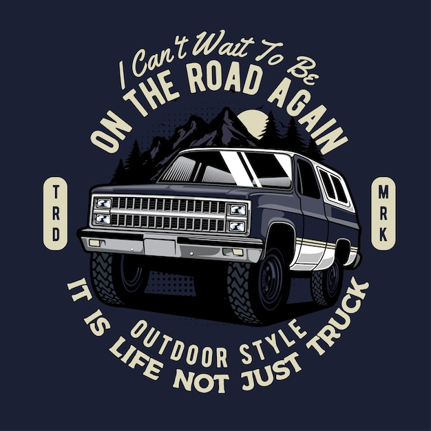 Adventure truck Premium Vector