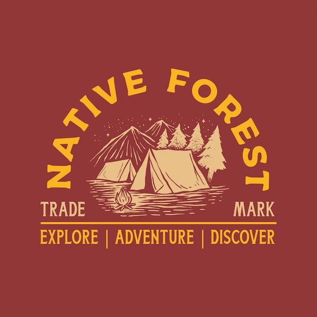 Adventure vintage logo Premium векторы