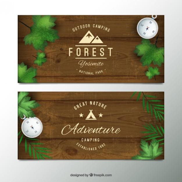 Adventure wooden banners