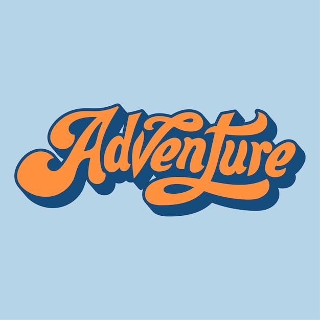 Adventure word typography style illustration Vector | Free