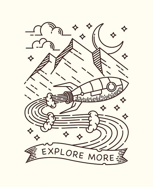 ロケット線図で冒険 Premiumベクター