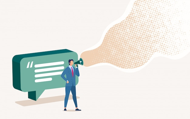 Advertisement in social network, Premium Vector
