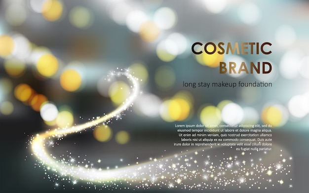 Advertising poster of a colorstay foundation Free Vector