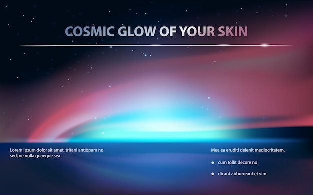 Advertising poster for cosmetic product Free Vector