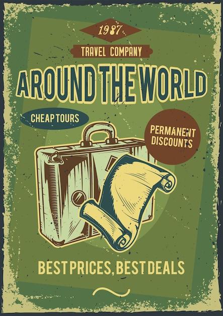 Дизайн рекламного плаката с иллюстрацией костюма с листом бумаги Бесплатные векторы