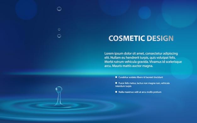 Manifesto pubblicitario di un prodotto cosmetico idratante Vettore gratuito