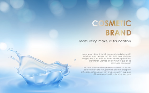 Advertising poster of a moisturizing cosmetic product Free Vector