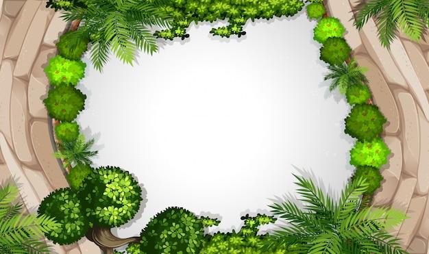 An aerial of garden frame Free Vector