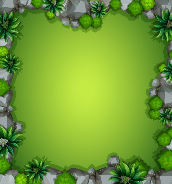 An aerial view of garden background Free Vector