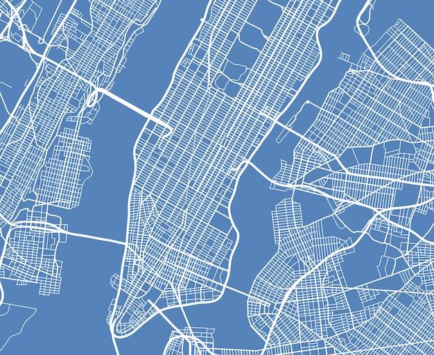 Aerial view usa new york city vector street map Premium Vector