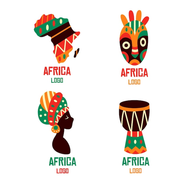 Africa logo collection template Free Vector