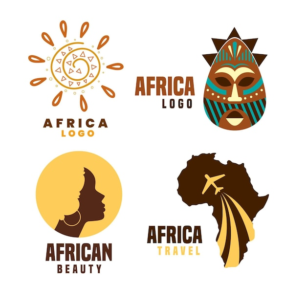 Africa logo collection Free Vector