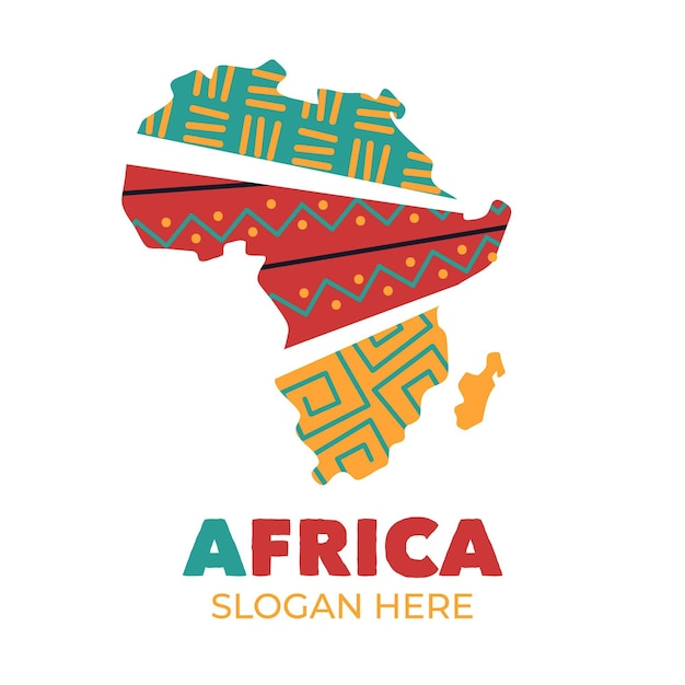 Набор шаблонов логотипов африки Бесплатные векторы