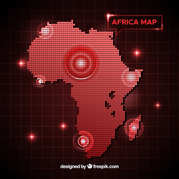 Africa Map Background.Africa Map Background With Dots Vector Free Download