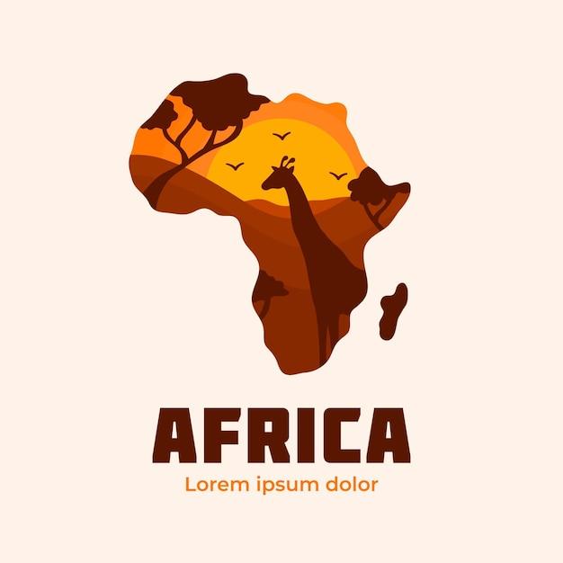 아프리카지도 로고 회사 서식 파일 무료 벡터