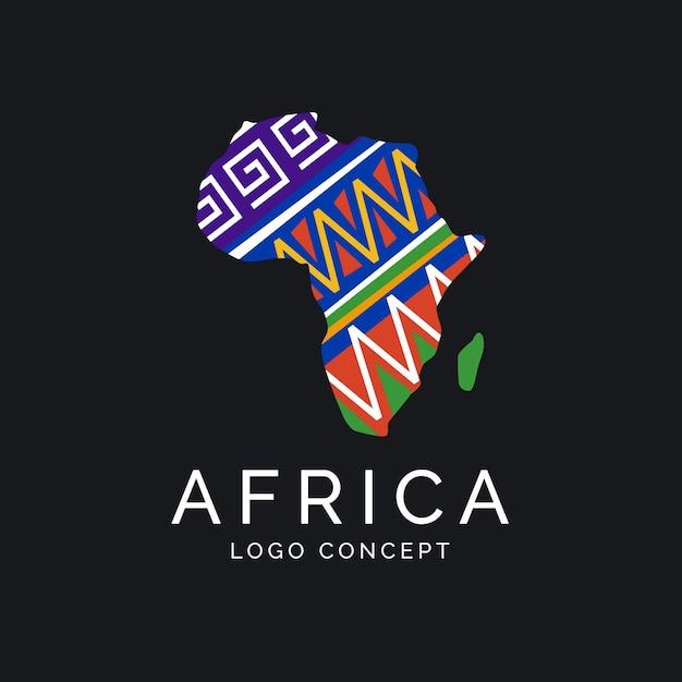 아프리카지도 로고 개념 무료 벡터