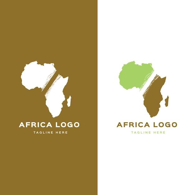 아프리카지도 로고 템플릿 프리미엄 벡터