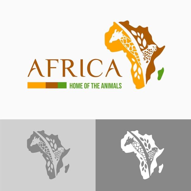 아프리카지도 로고 템플릿 무료 벡터