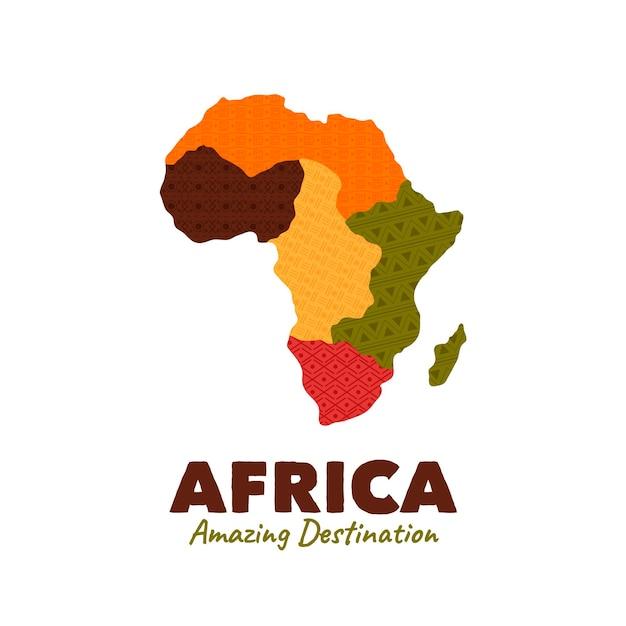 Логотип карты африки с слоганом Бесплатные векторы