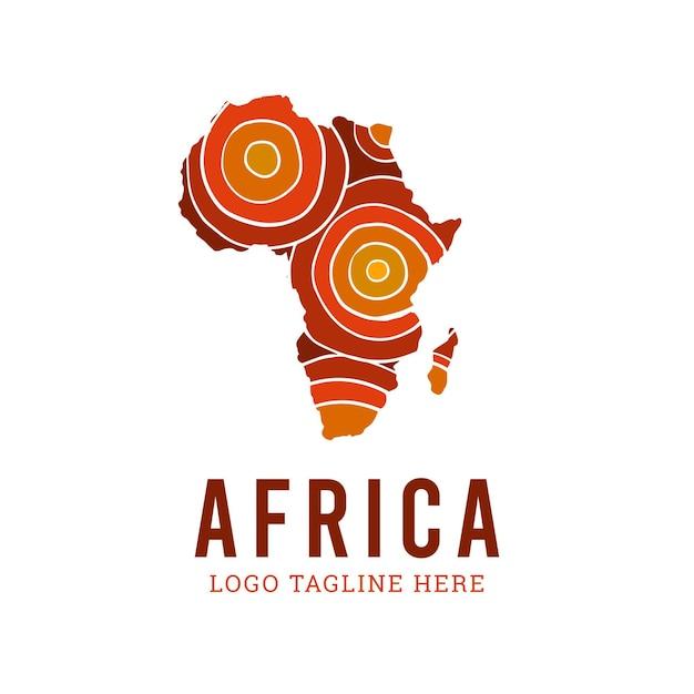 아프리카지도 로고 프리미엄 벡터