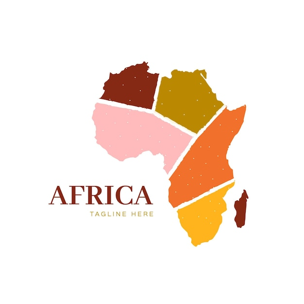 Логотип карты африки Бесплатные векторы