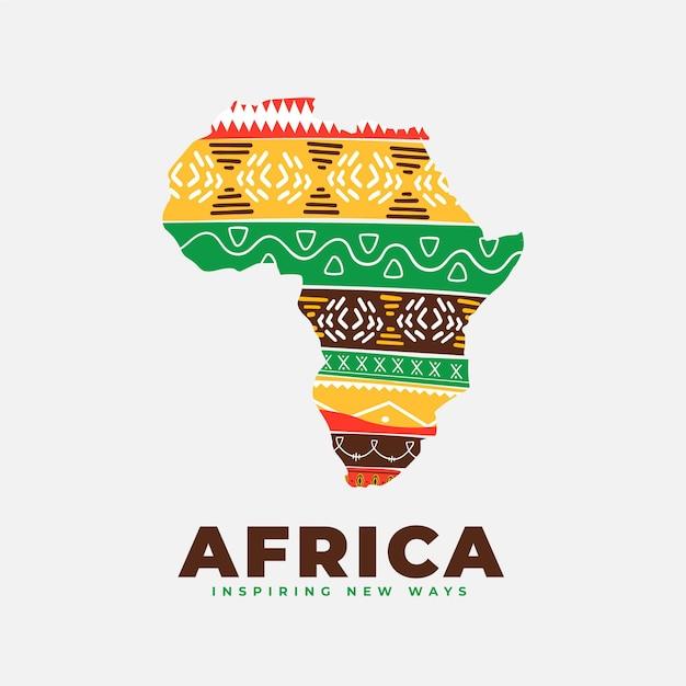 아프리카지도 로고 무료 벡터