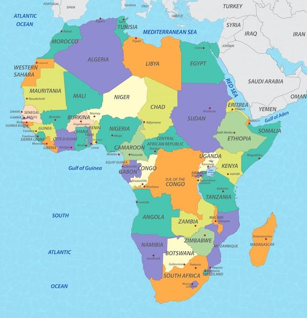 Africa Map Premium Vector