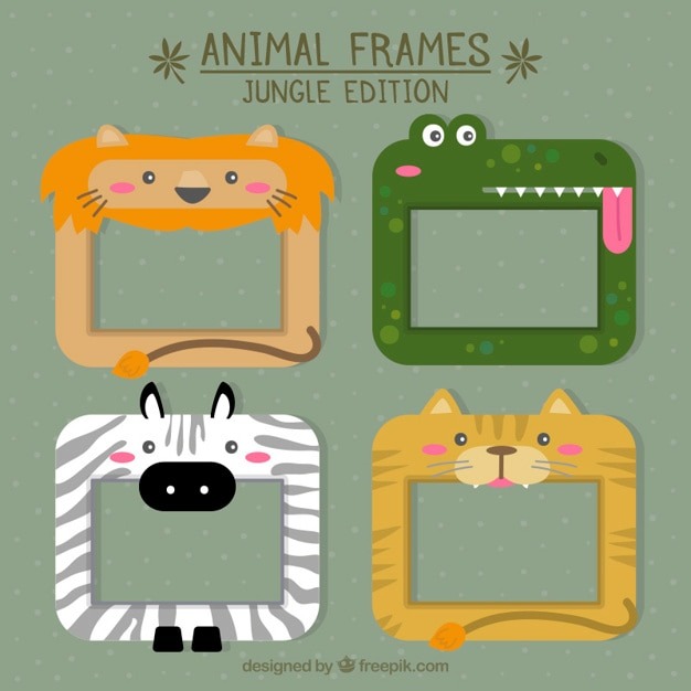 African animal frames