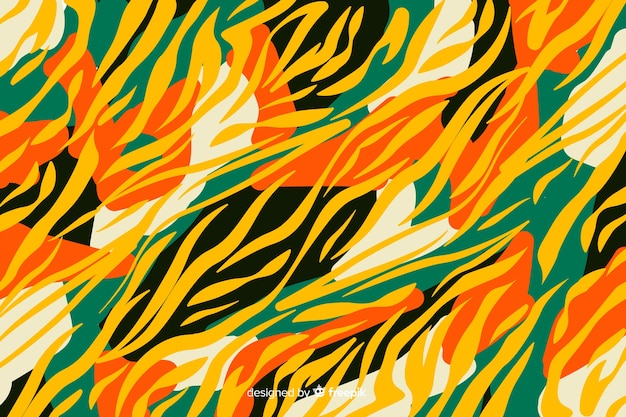 African fabric and animal skin background Free Vector
